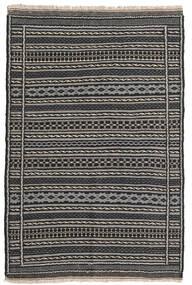 Chilim Covor 100X153 Orientale Lucrate De Mână Gri Închis/Negru/Gri Deschis (Lână, Persia/Iran)