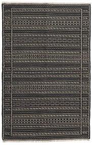 Kelim Teppe 96X150 Ekte Orientalsk Håndvevd Svart/Mørk Grå (Ull, Persia/Iran)
