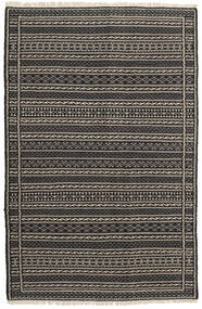 Kilim Rug 100X151 Authentic  Oriental Handwoven Black/Dark Grey/Light Grey (Wool, Persia/Iran)