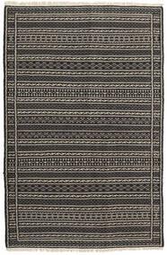 Chilim Covor 100X151 Orientale Lucrate De Mână Negru/Gri Închis/Gri Deschis (Lână, Persia/Iran)