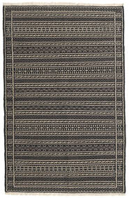 Kelim Teppe 95X150 Ekte Orientalsk Håndvevd Mørk Grå/Svart/Lys Grå (Ull, Persia/Iran)
