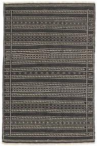 Kelim Teppe 101X157 Ekte Orientalsk Håndvevd Svart/Mørk Grå/Lys Grå (Ull, Persia/Iran)