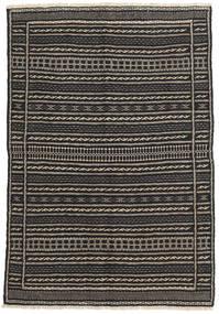 Kilim Dywan 100X146 Orientalny Tkany Ręcznie Czarny/Ciemnoszary/Jasnobrązowy (Wełna, Persja/Iran)