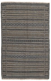 Kilim Dywan 96X152 Orientalny Tkany Ręcznie Ciemnoszary/Jasnoszary/Czarny (Wełna, Persja/Iran)