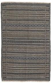 Kilim Alfombra 96X152 Oriental Tejida A Mano Gris Oscuro/Negro/Gris Claro (Lana, Persia/Irán)