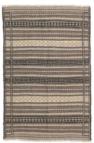 キリム 絨毯 93X143 オリエンタル 手織り 薄茶色/濃いグレー (ウール, ペルシャ/イラン)