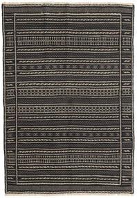 Kilim Rug 102X150 Authentic  Oriental Handwoven Black/Dark Grey (Wool, Persia/Iran)