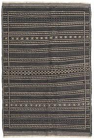 Kilim Dywan 103X153 Orientalny Tkany Ręcznie Ciemnoszary/Czarny/Jasnoszary (Wełna, Persja/Iran)