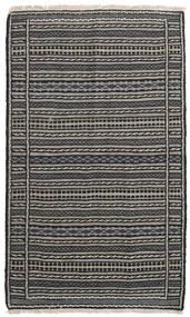 Kilim Dywan 95X158 Orientalny Tkany Ręcznie Ciemnoszary/Jasnoszary/Czarny (Wełna, Persja/Iran)