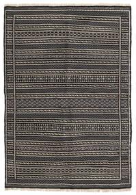 Kilim Szőnyeg 107X155 Keleti Kézi Szövésű Sötétszürke/Fekete/Világosszürke (Gyapjú, Perzsia/Irán)