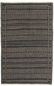 Kilim Dywan 99X154 Orientalny Tkany Ręcznie Czarny/Ciemnoszary (Wełna, Persja/Iran)
