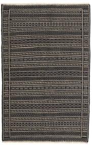 Kilim Rug 99X154 Authentic  Oriental Handwoven Black/Dark Grey (Wool, Persia/Iran)