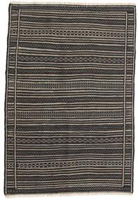 Kilim (Persja) Dywan 100X160 Orientalny Tkany Ręcznie Czarny/Ciemnoszary/Jasnobrązowy (Wełna, Persja/Iran)