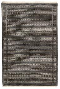 Kilim Dywan 103X154 Orientalny Tkany Ręcznie Czarny/Ciemnoszary/Jasnobrązowy (Wełna, Persja/Iran)