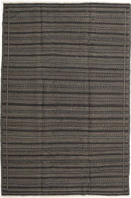 Kilim Rug 202X301 Authentic  Oriental Handwoven Dark Grey/Black (Wool, Persia/Iran)