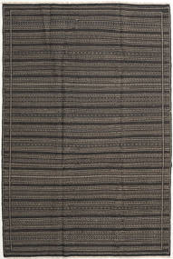 Kilim Rug 200X301 Authentic  Oriental Handwoven Dark Grey (Wool, Persia/Iran)