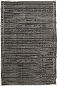 Kilim Persia Rug 200X300 Authentic  Oriental Handwoven Dark Grey/Black/Light Grey (Wool, Persia/Iran)