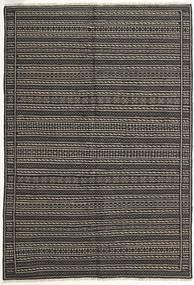 Kilim Rug 142X208 Authentic  Oriental Handwoven Dark Grey/Black (Wool, Persia/Iran)