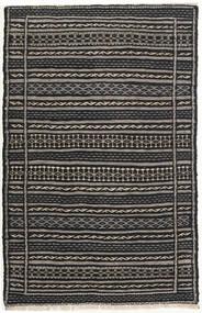 Ćilim Sag 80X124 Autentični Orijentalni Ručno Tkani Crna/Tamnosiva/Svjetlosiva (Vuna, Perzija/Iran)