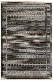 Kelim Matto 81X125 Itämainen Käsinkudottu Vaaleanharmaa/Tummanharmaa/Musta (Villa, Persia/Iran)