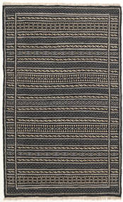 Kilim Rug 80X130 Authentic  Oriental Handwoven Black/Dark Grey (Wool, Persia/Iran)