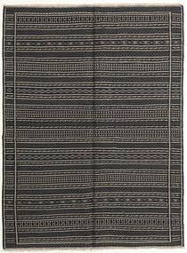 Kilim Szőnyeg 151X203 Keleti Kézi Szövésű Sötétszürke/Fekete (Gyapjú, Perzsia/Irán)