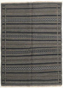 Kilim Dywan 150X204 Orientalny Tkany Ręcznie Czarny/Ciemnoszary/Jasnoszary (Wełna, Persja/Iran)