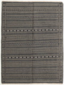 Kilim Dywan 151X200 Orientalny Tkany Ręcznie Ciemnoszary/Czarny/Jasnoszary (Wełna, Persja/Iran)