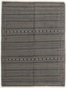 Kilim Rug 151X200 Authentic Oriental Handwoven Dark Grey/Black/Light Grey (Wool, Persia/Iran)