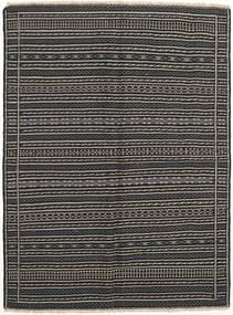 Kilim Dywan 152X204 Orientalny Tkany Ręcznie Ciemnoszary/Czarny (Wełna, Persja/Iran)