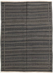 Kilim Rug 147X200 Authentic  Oriental Handwoven Dark Grey/Black (Wool, Persia/Iran)