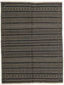 Kilim Persia Rug 154X205 Authentic  Oriental Handwoven Dark Grey/Black (Wool, Persia/Iran)