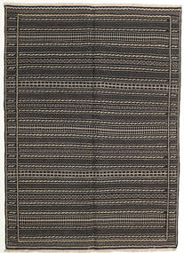 Kilim Persia Rug 140X200 Authentic  Oriental Handwoven Dark Grey/Black (Wool, Persia/Iran)