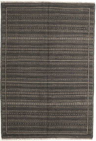Kelim Persia Matto 160X230 Itämainen Käsinkudottu Tummanharmaa/Vaaleanharmaa (Villa, Persia/Iran)