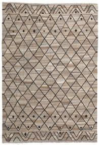 Kilim Ariana Rug 202X291 Authentic  Modern Handwoven Light Brown/Light Grey (Wool, Afghanistan)