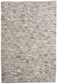 Kilim Ariana Rug 203X296 Authentic  Modern Handwoven Light Grey/Light Brown (Wool, Afghanistan)