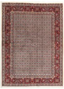 Moud Rug 168X226 Authentic  Oriental Handknotted Light Brown/Dark Grey (Wool/Silk, Persia/Iran)