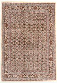 Moud Teppe 166X238 Ekte Orientalsk Håndknyttet Lysbrun/Lys Grå (Ull/Silke, Persia/Iran)