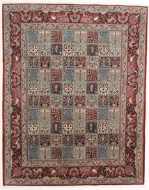Moud Matto 198X250 Itämainen Käsinsolmittu Vaaleanruskea/Tummanruskea (Villa/Silkki, Persia/Iran)