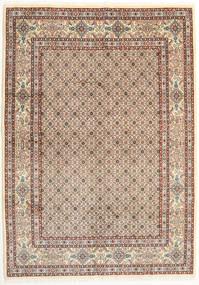 Moud Teppe 171X240 Ekte Orientalsk Håndknyttet Lysbrun/Beige (Ull/Silke, Persia/Iran)