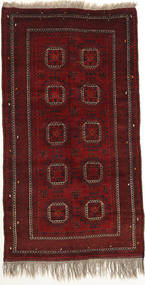 Afghan Khal Mohammadi Rug 124X228 Authentic  Oriental Handknotted Dark Red (Wool, Afghanistan)