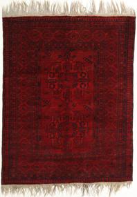 Afghan Khal Mohammadi Rug 134X170 Authentic  Oriental Handknotted Dark Red/Dark Brown (Wool, Afghanistan)