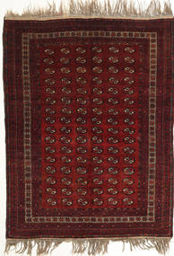 Afghan Khal Mohammadi Rug 134X180 Authentic  Oriental Handknotted Dark Red (Wool, Afghanistan)