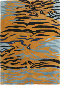 Tapis Love Tiger - Orange / Gris CVD22057