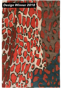 Tilda - 2018 Rug 200X300 Modern Dark Red/Black (Wool, India)