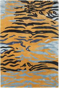 Love Tiger - Pomarańczowy/Szary Dywan 200X300 Nowoczesny Jasnobrązowy/Czarny ( Indie)