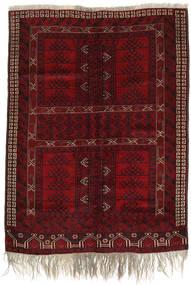 Afghan Khal Mohammadi Matta 152X206 Äkta Orientalisk Handknuten Mörkröd/Mörkbrun (Ull, Afghanistan)