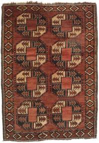 Afghan Khal Mohammadi Teppe 124X172 Ekte Orientalsk Håndknyttet Mørk Rød/Mørk Brun (Ull, Afghanistan)