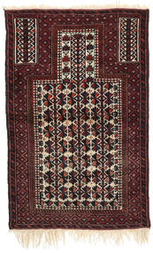 Afghan Khal Mohammadi Alfombra 88X136 Oriental Hecha A Mano Rojo Oscuro/Beige (Lana, Afganistán)