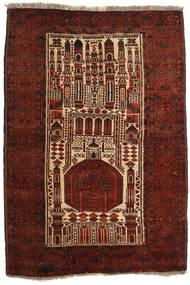 Afghan Khal Mohammadi Vloerkleed 109X160 Echt Oosters Handgeknoopt Donkerbruin/Donkerrood (Wol, Afghanistan)